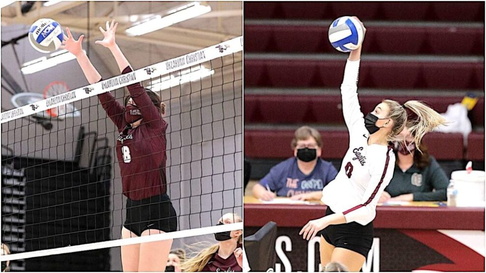 Oklahoma Christian University stars DeMuth and Schiefelbein named to All-Star Conference Volleyball Conference for the spring