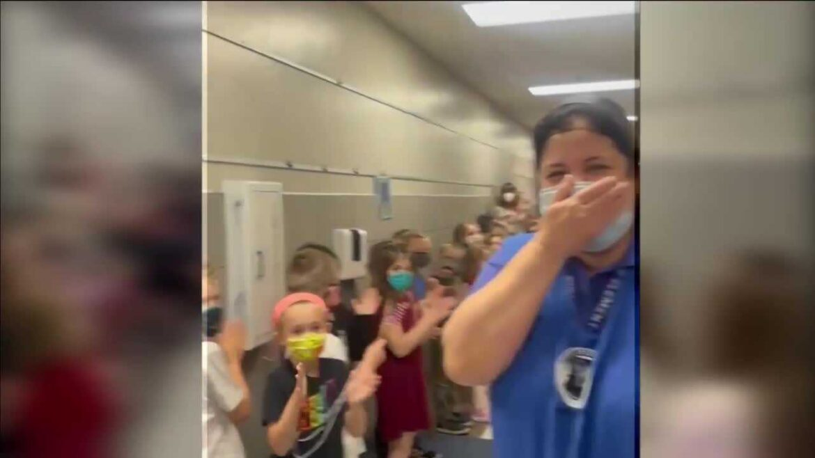 Students cheer on Deer Creek Public Schools employee after she passes US citizenship test