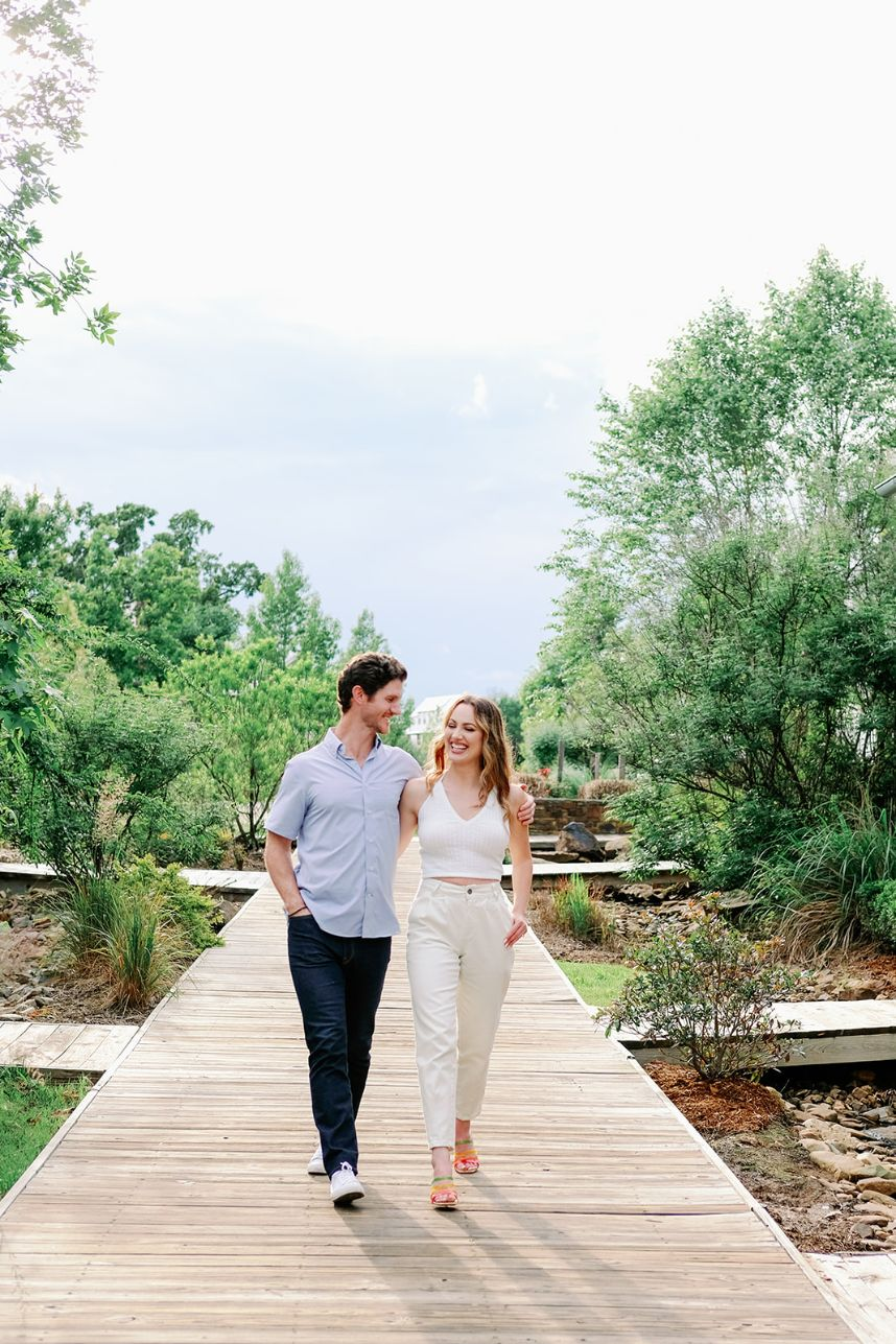 Romantic Lakeside Summer Engagement with the Dreamiest Lighting